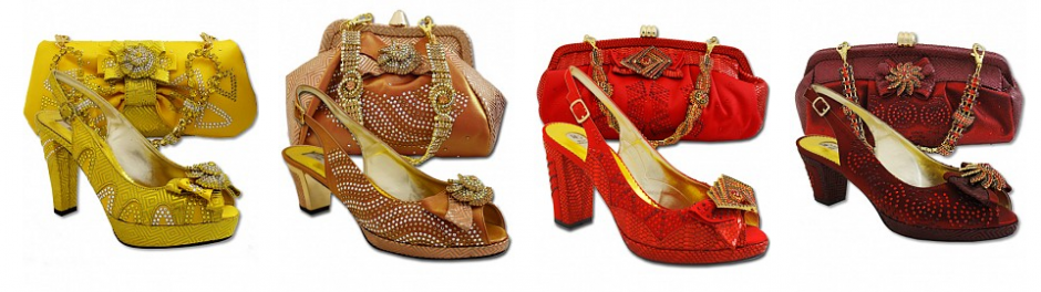 West African handbags and shoes