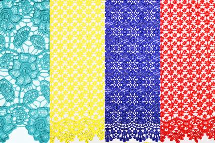 Guipure lace colours