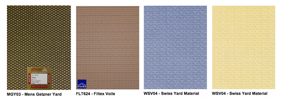 A selection of Men's Swiss Voile from Empire Textiles