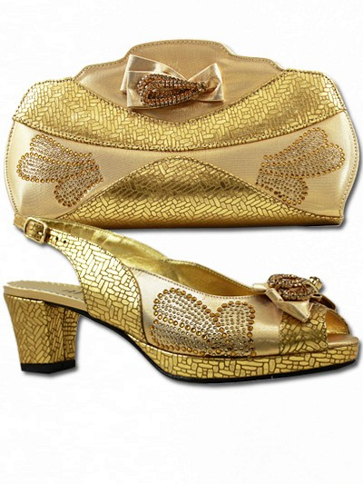 BIT1003 - Gold Leather Bianca Italy