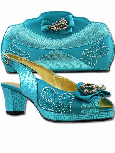 BIT1008 - Teal Leather Bianca Italy