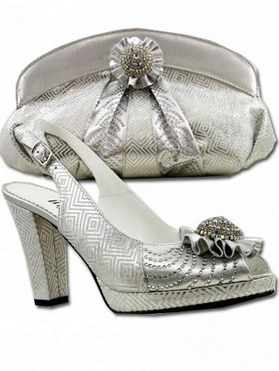 BIT1016 - Silver Leather Bianca Italy