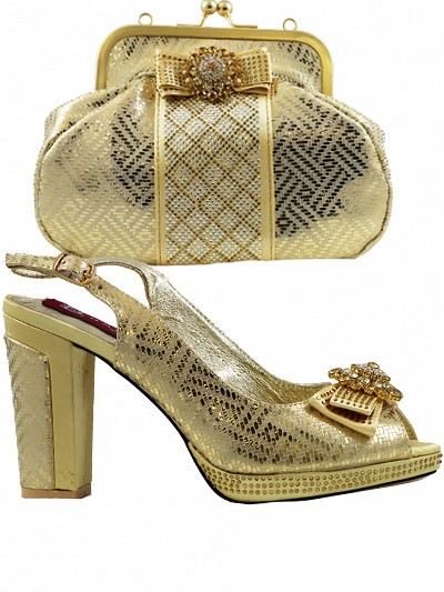 BAG910 - Gold Leather Baggio