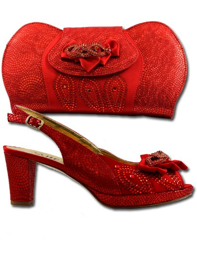 BIT1020 - Red Leather Bianca Italy