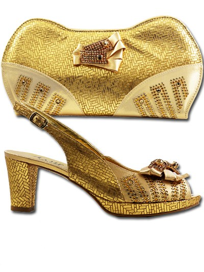 BIT10201 - Gold Leather Bianca Italy