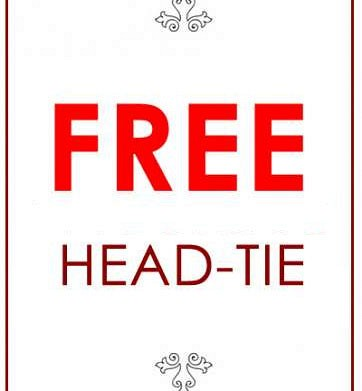 FREE Head-tie (we will endeavour to match)