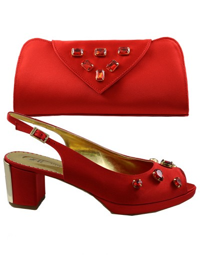 NFI147 - Red Nadia Ferri Shoes & Bag