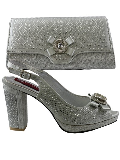 BAG914 - Silver Leather Baggio