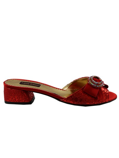 LCF584 -  Red Leather Lucia Fabiani Sandals Only