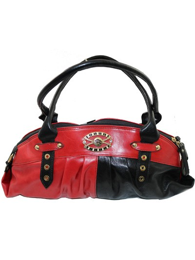 CET007 - Black & Red Cerruti Roma Hand Bag