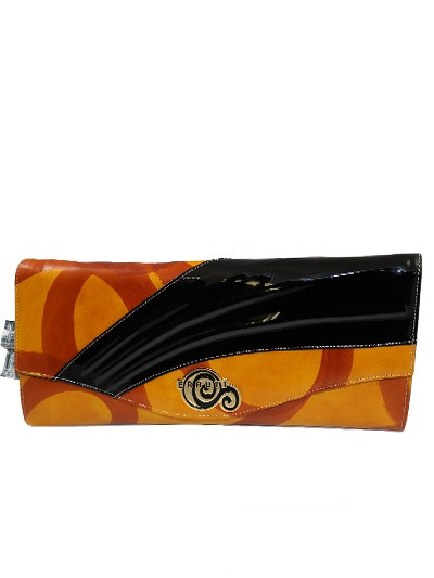 CER011 - Black & Lemon Cerruti Roma Clutch Bag