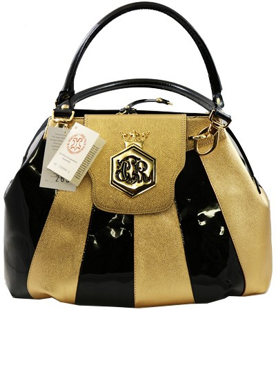 CER016 - Gold & Black Cerruti Roma Hand Bag