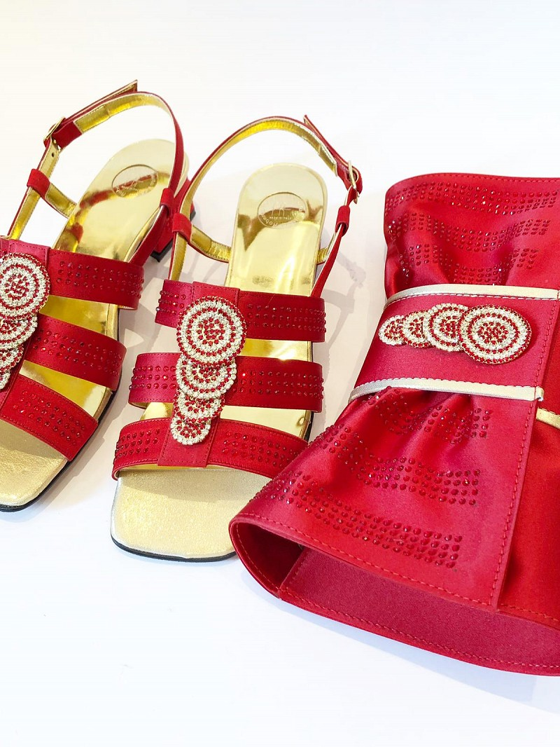 RFB773 -Red Roberta Fabiani Sandals & Bag