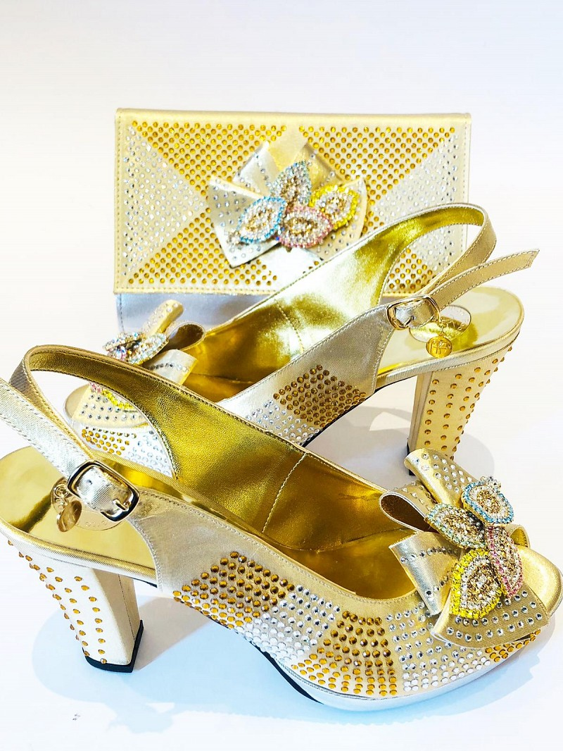 RFB781 - Gold Roberta Fabiani  Shoes & Bag