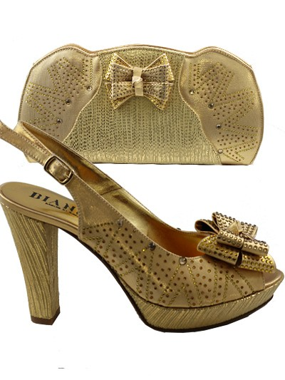 BIT1026 - Gold Leather Bianca Italy