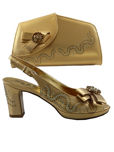 EDS1029 - Gold Enzo di Roma Shoes & Bag