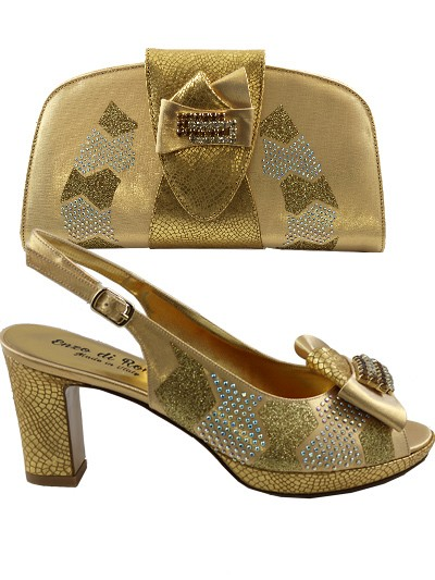 EDS1030 - Gold Enzo di Roma Shoes & Bag