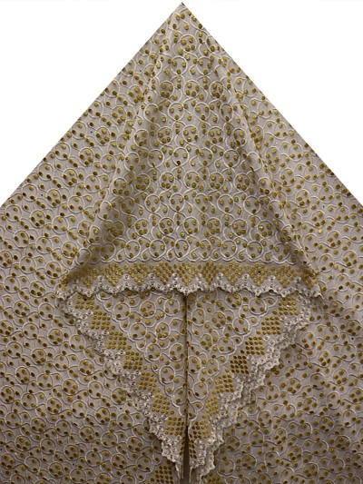 PVL134 - Big Hand Embroidered Voile Lace