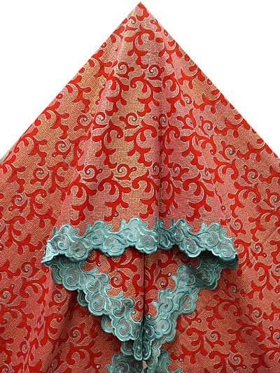 PVL133 - Big Hand Embroidered Voile Lace
