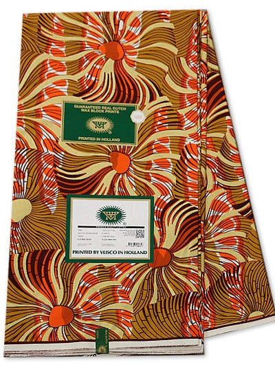 VSW109 - New Vlisco Silk Cotton  Embellished Wax