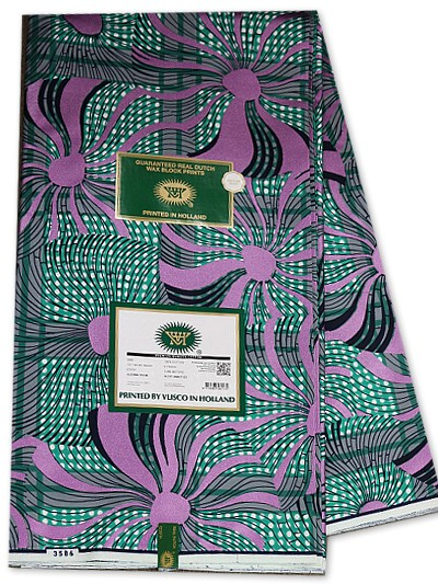 VSW111 - New Vlisco Silk Cotton  Embellished Wax