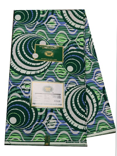 VSW119 - New Vlisco Silk Cotton  Embellished Wax