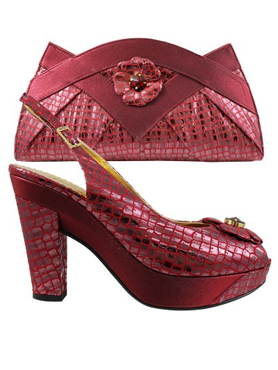 NFI262 - Wine Leather Nadia Ferri Shoes & Bag