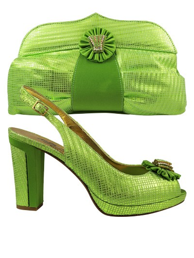 NFI266 -Lemon Leather Nadia Ferri Shoes & Bag