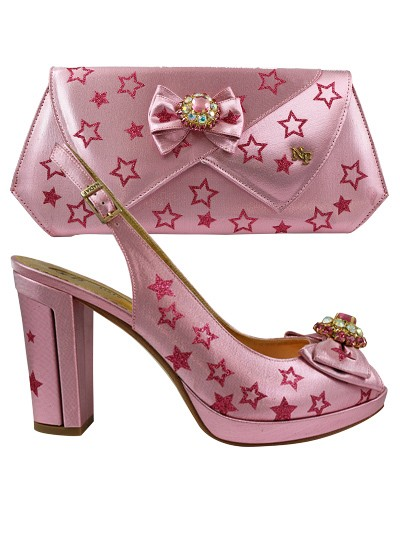NFI284 - Baby Pink Nadia Ferri Shoes & Bag