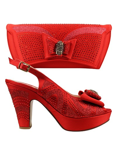 EDS1069 - Red Enzo di Roma Shoe & Bag