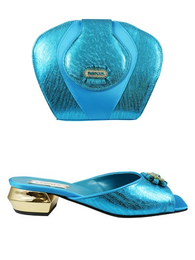 EVQ115 - Turquoise Evoque Sandals & Bag