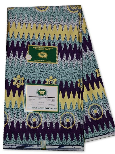 VSW138  -New Vlisco Silk Cotton  Embellished Wax