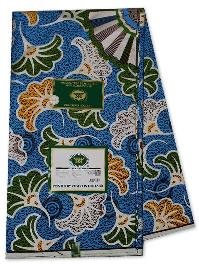 VSW141 -New Vlisco Silk Cotton  Embellished Wax