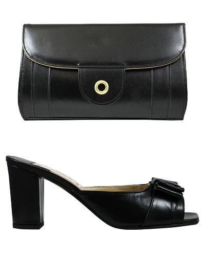 EVQ122 -Black Evoque Sandals & Bag