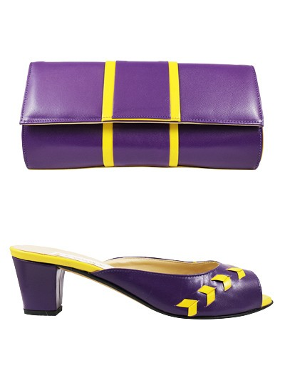 EVQ169 - Purple Evoque Sandals & Bag