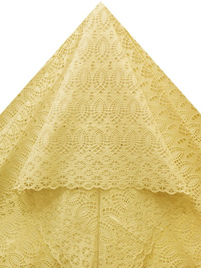 SLV523 - Big Perforated Voile Lace