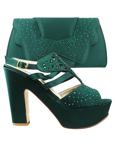 EDS1084 - Green Enzo di Roma Shoe & Bag
