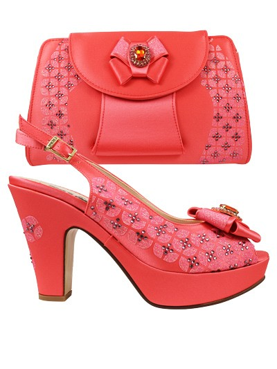 EDS1092 - Coral Enzo di Roma Shoe & Bag