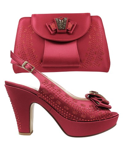 EDS1095 - Burgundy Enzo di Roma Shoe & Bag