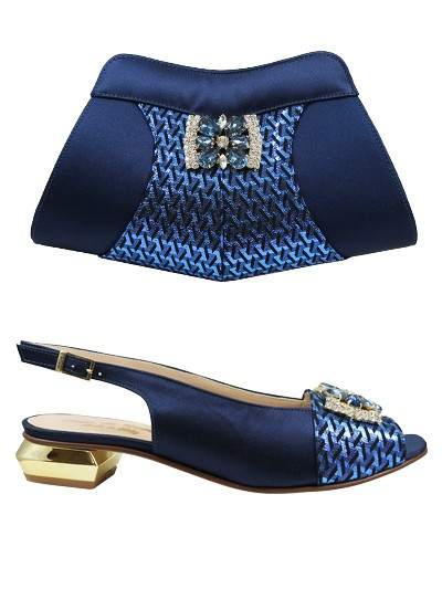 EDS1133 - Navy Enzo di Roma Shoe & Bag