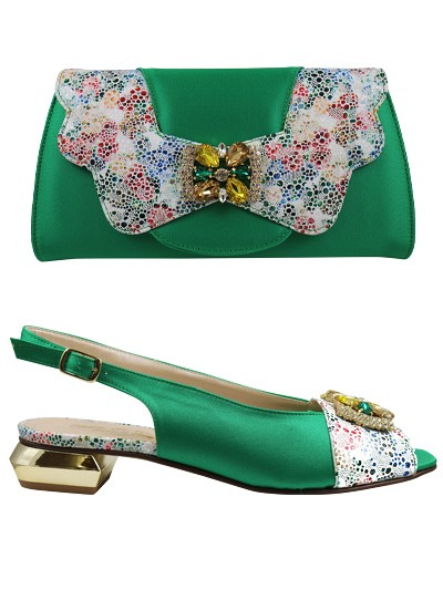EDS1135 - Green Enzo di Roma Shoe & Bag