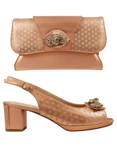 MTB134 -Peach Marta Fabi Shoes & Bag