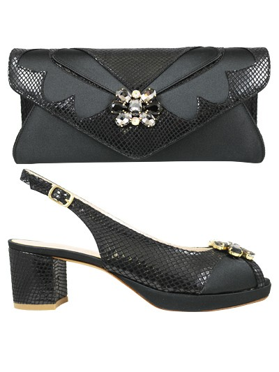 EDS1162 -Black  Enzo di Roma Shoe & Bag