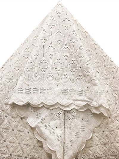 SLV541 - Big Perforated Voile Lace