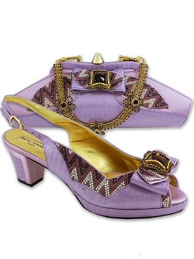BGB818 - Lilac Bruno Giordano Shoe & Bag Set