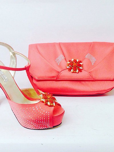 RFB749 - Coral Roberta Fabiani Shoe Only!!
