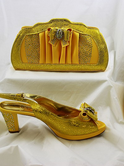 CLL020 - Yellow Leather Claudia Magnini