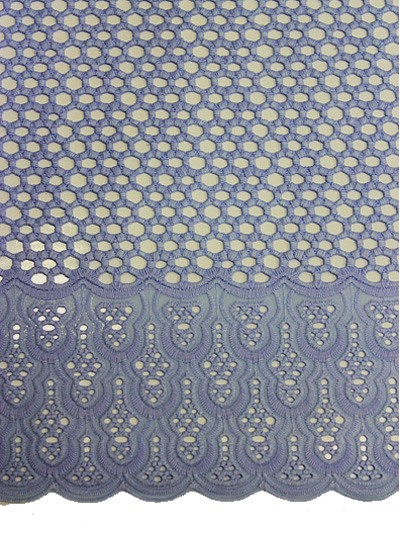 SLV398 - Big Perforated Voile Lace